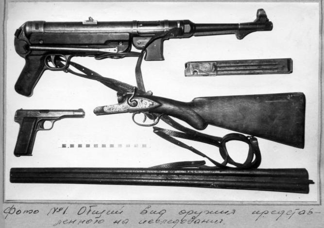 1965 m. pas Antaną Kraujelį rasti ginklai