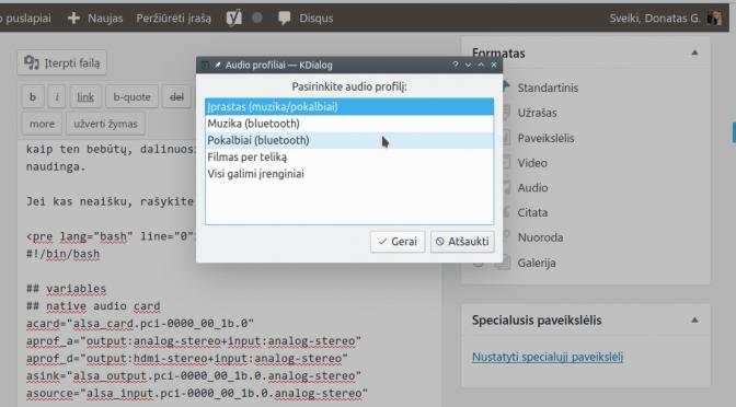 Linux audio: individualizuotas sprendimas