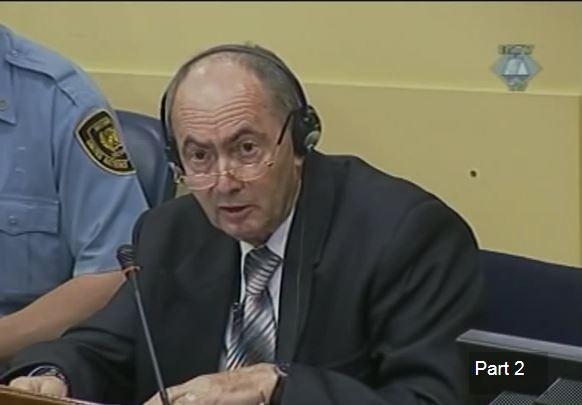 Zdravko Tolimir Tribunolo buvusiai Jugoslavijai posėdyje