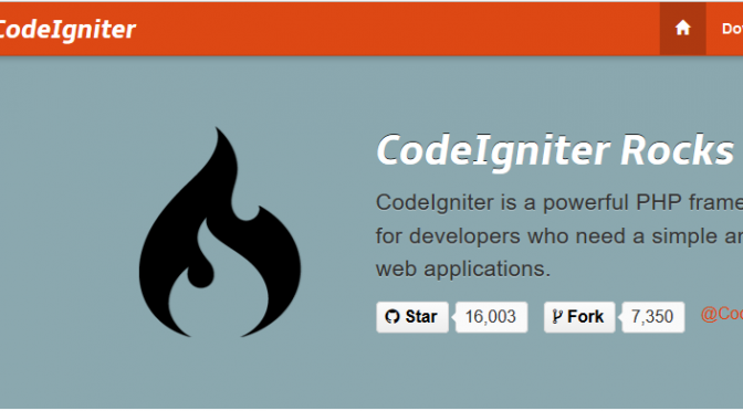 Codeigniter website screenshot