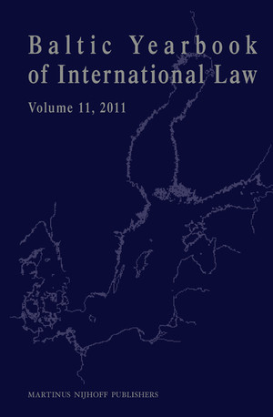 Baltic Yearbook of International Law, Vol. 11, 2011