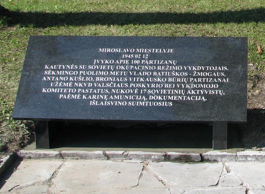 Informacinė lenta Miroslave